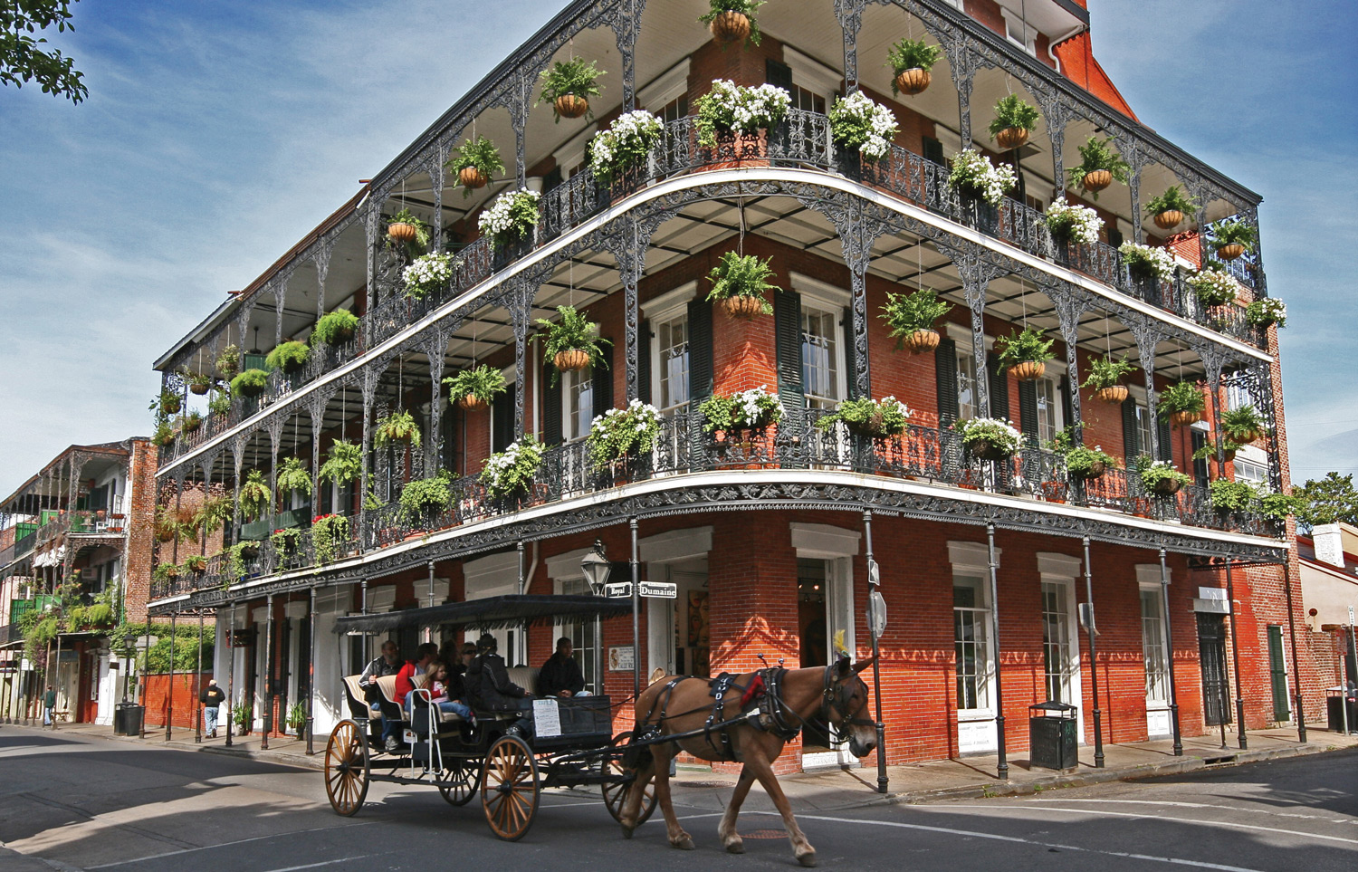 New Orleans' French Quarter.