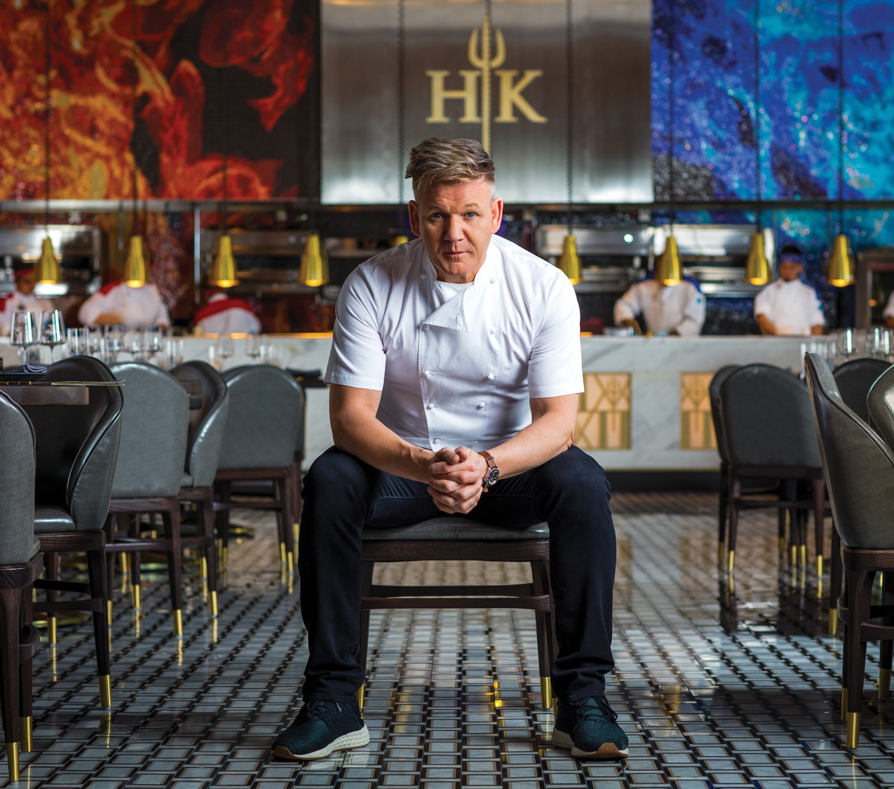 Gordon Ramsay of HELL'S KITCHEN. (Erik Kabik / Caesars Palace)