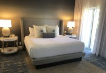 The bedroom at the new villas.