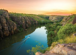 Nitmiluk Gorge is one of several places travelers can visit in the Northern Territory of Australia.