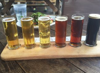 A brewskis to quench your thirst on Getaways Adventure's Pints & Pedals Tour in Napa. (Photo courtesy of Getaways Adventures.) bikes & beers