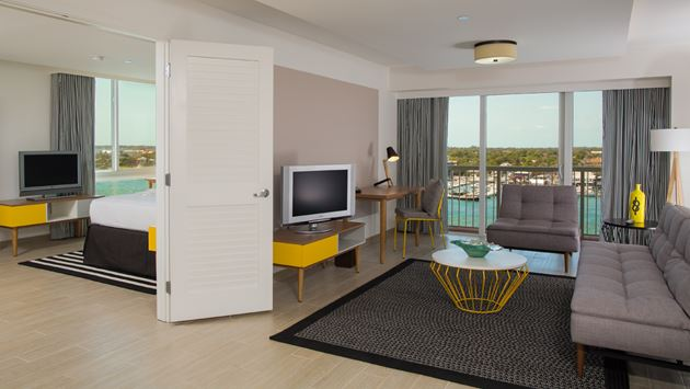 One Bedroom Harbourfront Suite at the Warwick Paradise Island-Bahamas.