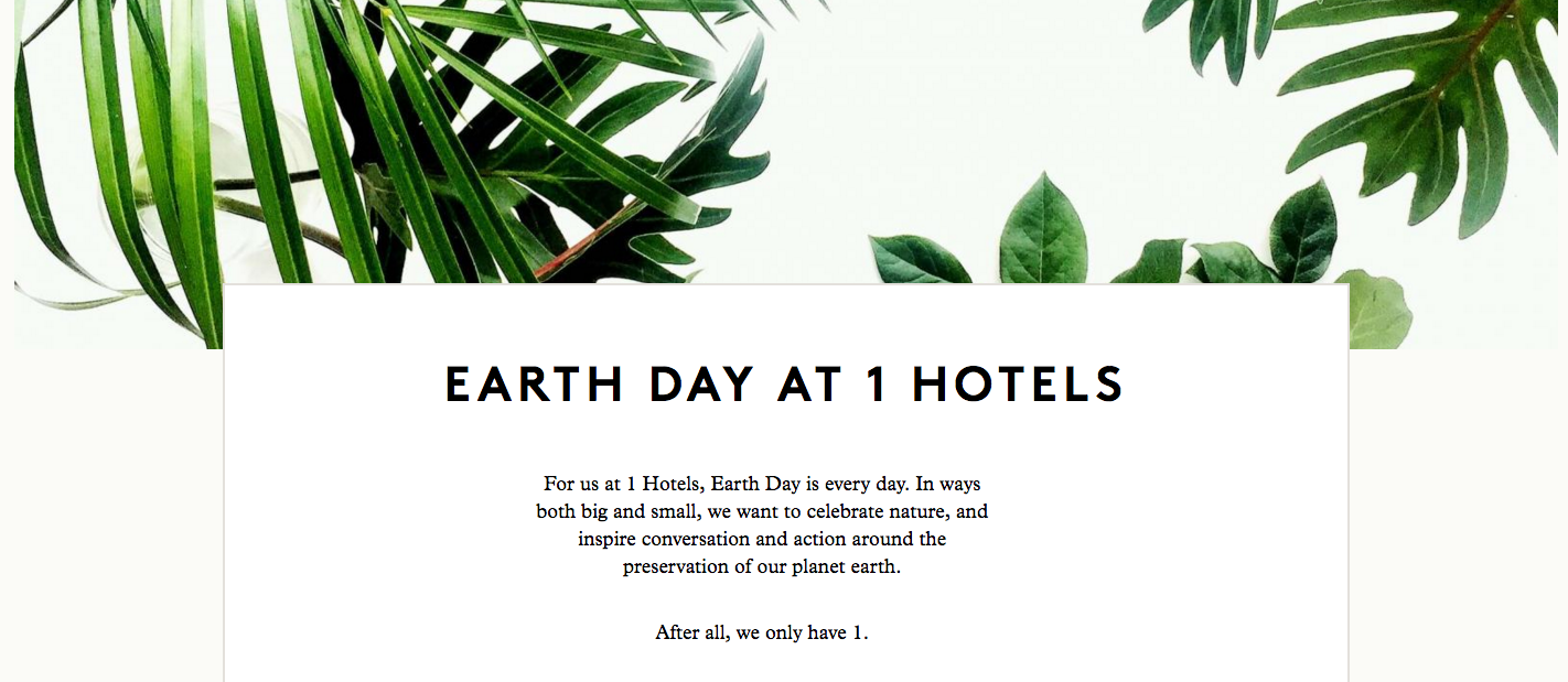 I Hotels Earth Day