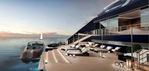 Rendering of the Ritz-Carlton Yacht Collection Aft Marina.