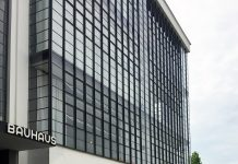 Bauhaus building in Dessau. Germany
