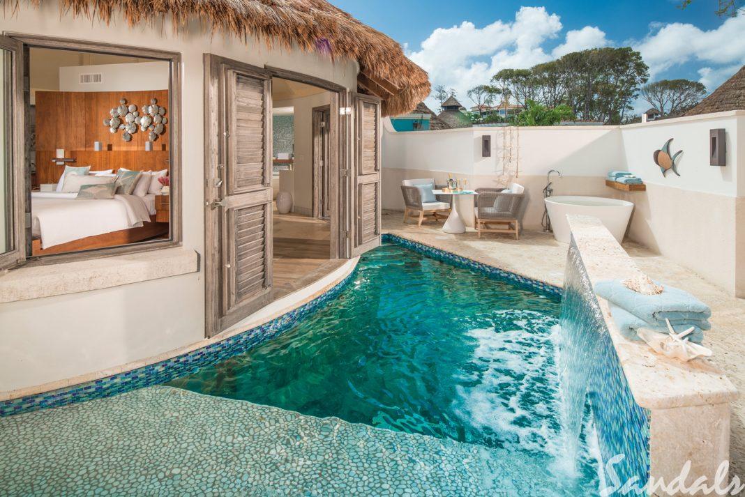Love Nest Suites at Sandals Royal Barbados.