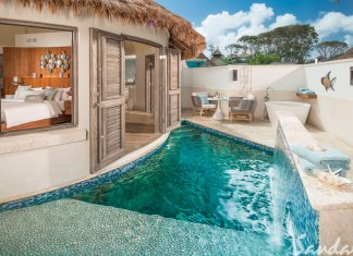Love Nest Suites at Sandals Royal Barbados.