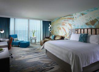 Hip accommodations at the Hard Rock Hotel Daytona Beach.