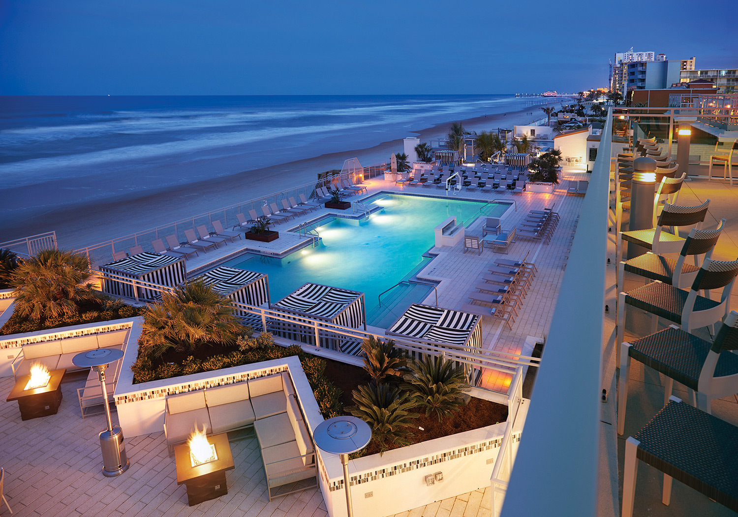 Arial view of Hard RockHotel Daytona Beach.