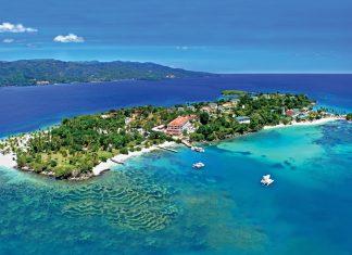 Bird's-eye view of the 268-room Luxury Bahia Principe Cayo Levantado.