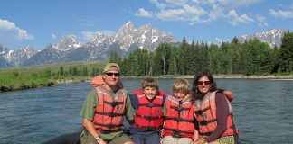 Rainer Jenss, president & founder of Family Travel Association, with his family.