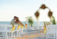 Beachside wedding venue at The Naples Beach Hotel & Golf Club.