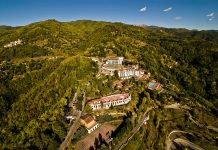 Renaissance Tuscany Il Ciocco Resort & Spais nestled on a hill overlooking the mountainous Serchio Valley in Tuscany.