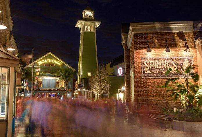Disney Springs features over 130 establishments for guests to explore including shops and restaurants.
