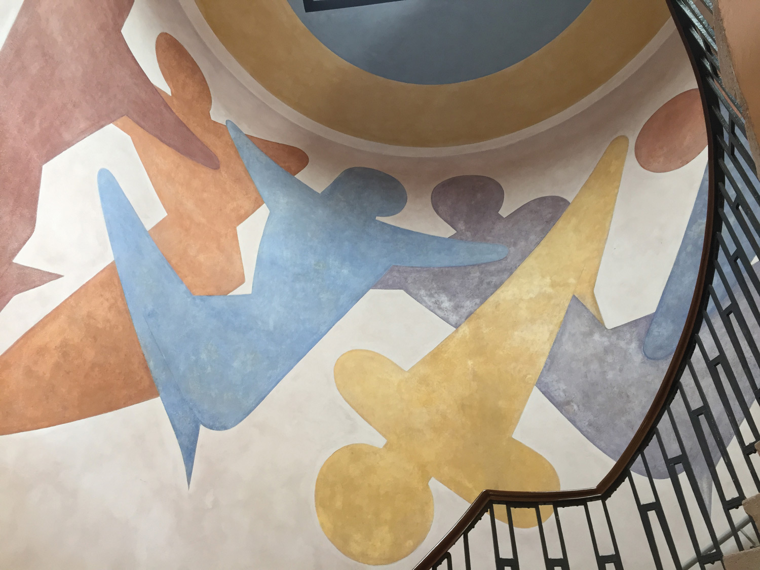 Staircase painting at Bauhaus University in Weimar. (Paloma Villaverde de Rico)