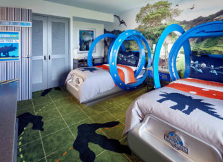 The new Jurassic World Kids' Suites transports guests to the world of dinosaurs.