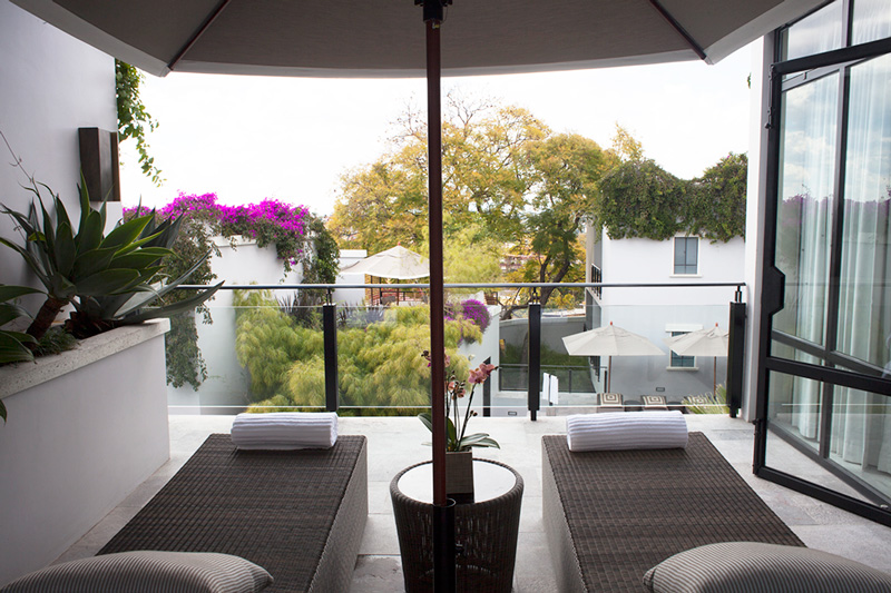 The Owner's Suite terrace at Hotel Matilda, where an all-access package is being offered for the San Miguel de Allende Market of Arts & Gastronomy festival.