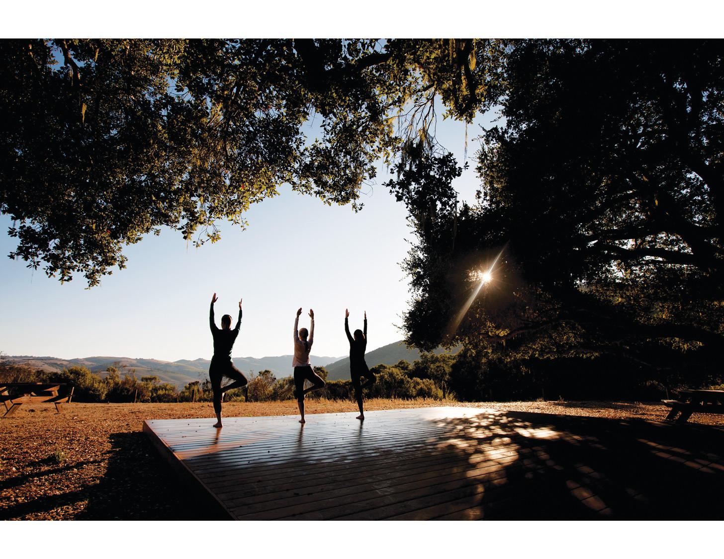 Hilltop Yoga at Carmel Valley Ranch in California.