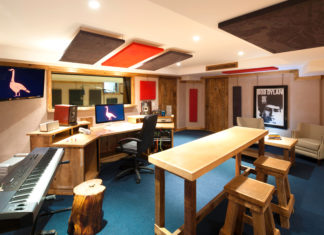 Inside the Hotel El Ganzo recording studio.