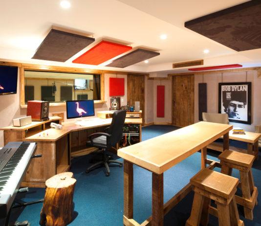 Inside the Hotel El Ganzo recording studio.