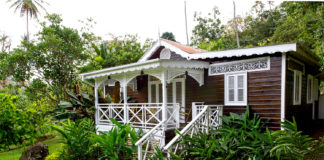 A chattel house at Fond Doux Plantation & Resort in Saint Lucia.
