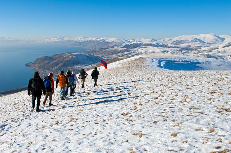 Hiking in the mountains near Artanish, Armenia.