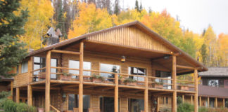 The Main Lodge at C Lazy U luxury guest ranch in Colorado.