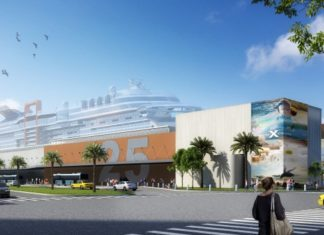 Construction of Celebrity Cruises' Terminal 25 will be completed in October 2018.