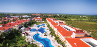 Bird's-eye view of the Grand Bahia Principe Aquamarine.