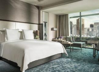 Guestroom inside the Four Seasons Hotel Kuala Lumpur.