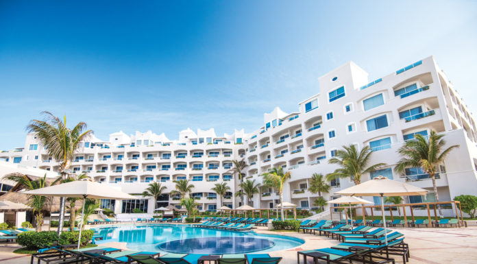 Poolside at the newly opened Panama Jack Resorts Cancun.