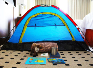 "Families can go ""camping"" with the new Fort Blu Kids Camping package at Radisson Blu Mall of America."