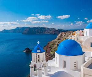 The Blue Walk's Greece FAM will end in Santorini.