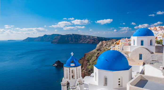 The Blue Walk's Greece FAM will end in Santorini.