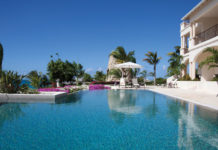 Poolside at the Blue Waters' Cove Suites.