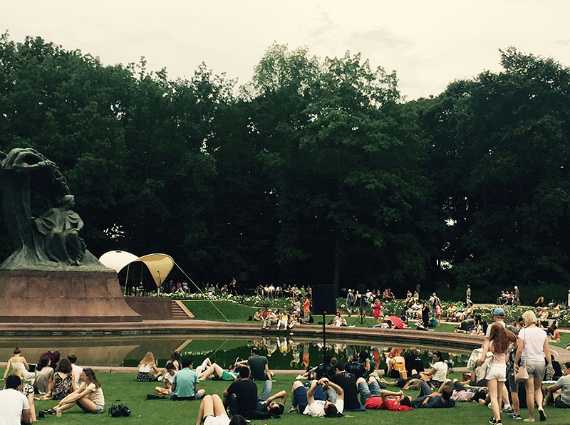 Chopin in Park Warsaw