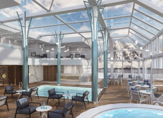 Crystal Endeavor's Solarium allows guests to admire the landscape even while inside the vessel.