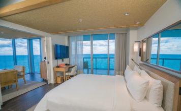 The stunning 1-bedroom Oceanfront Suite.