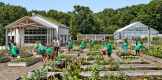 the New York Botanical Gardens recently launched Edible Academy features hands-on activities like gardening for kids.