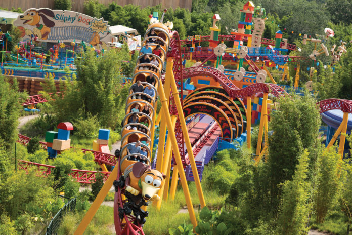 Hollywood Studios' Toy Story Land offers whimsical rides ideal for the whole family.