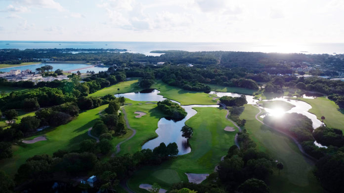 An aerial view of Innisbrook and its golf courses.