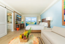 Accommodations inside the Margaritaville Beach Resort Grand Cayman.