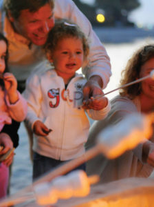 At Paradise Point Resort & Spa in California, families can participate in a s'mores activity.