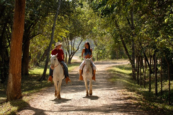 Horseback riding is one of several outdoor activities guests can participate in while staying at Barcelo Tambor in Costa Rica.