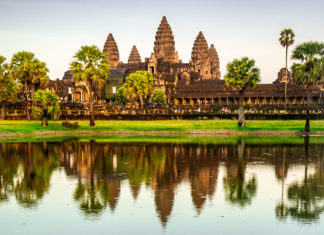 Angkor Wat is one of several UNESO World Heritage sites that guests can explore when sailing on a Seabourn Ovation cruise in Asia.