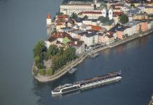 AmaWaterways AmaPrima in Passau on the Danube.