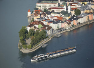 AmaWaterways AmaPrima in Passau on the Danube.