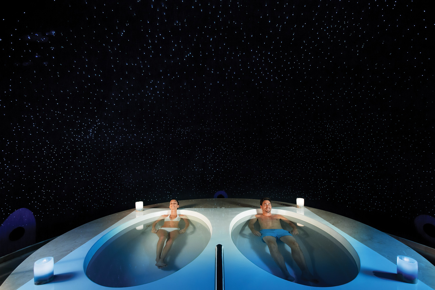 Flotation Experience at Barcelo Maya Grand Resort's U-Spa.