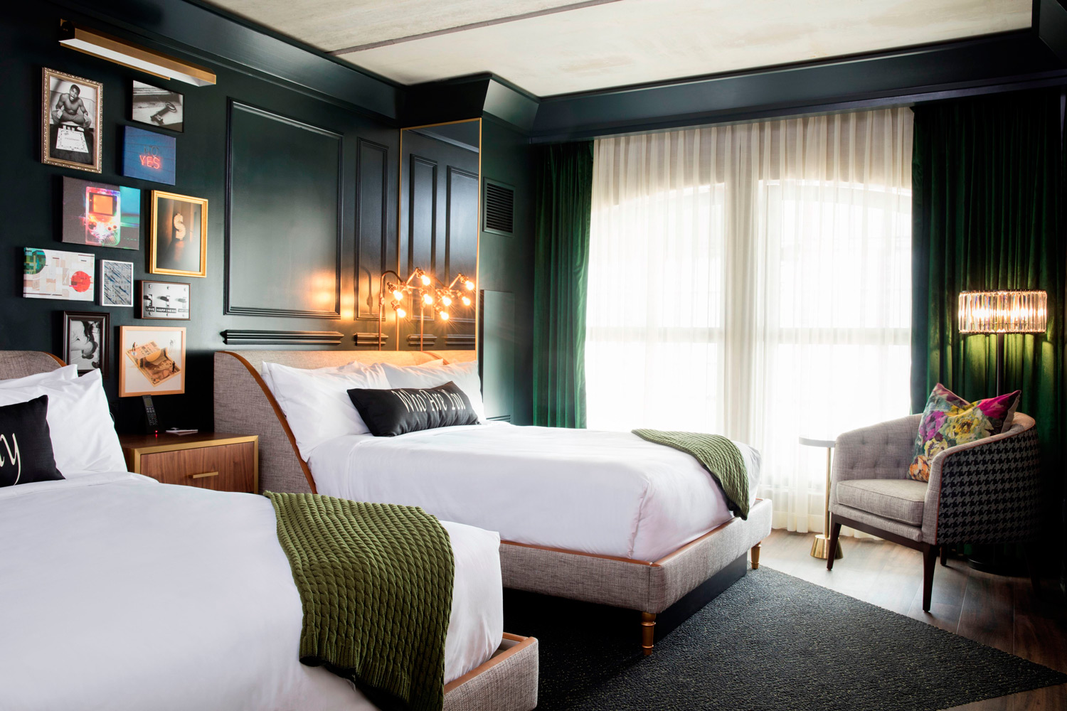 Guestrooms at the newly opened MGM Springfield in Massachusetts.