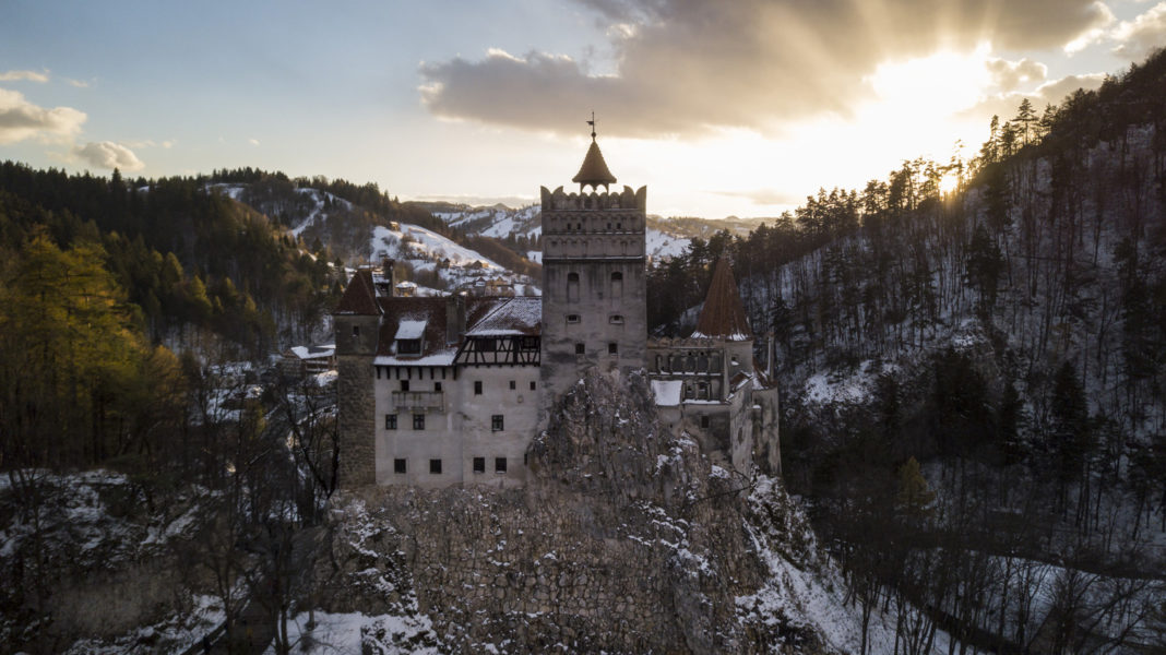 Romania Bran Draculas Castle Sunset Halloween Party